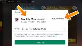 HOW TO GET FREE MONTHLY MEMBERSHIP IN FREE FIRE WITHOUT REDEEM CODE - GARENA FREE FIRE