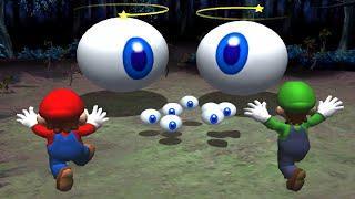 Mario Party Series Minigames - Mario vs Luigi vs Peach vs Daisy (Master CPU)