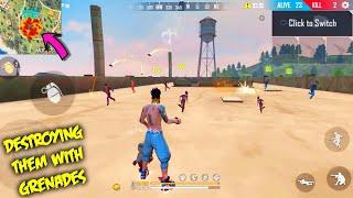 Free Fire Play Like Hacker Mind Blowing Gameplay With Grenade | Garena Free Fire | P.K. Gamers