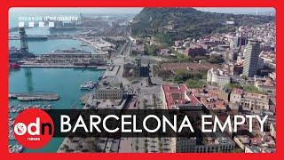 Barcelona Lockdown: Amazing Drone Footage Shows Empty Streets in the Catalan City