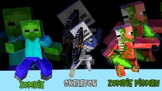Monster School: THE BEST OF ZOMBIE,ZOMBIE PIGMAN AND SKELETON-Minecraft Animation