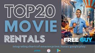 TOP 20 Movie Rentals of the Week - Oct 10, 2021: Free Guy - Starring Ryan Reynolds and more!