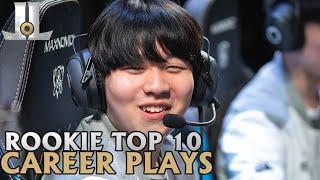 Rookie Top 10 Career Plays | Lol esports