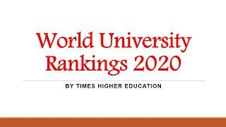 Top 50 World University Rankings 2020 | Times Higher Education (THE)