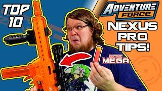 IT SHOOTS NERF MEGA DARTS!?! TOP 10 ADVENTURE FORCE NEXUS PRO TIPS! (Or 11, I stopped counting)
