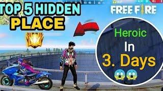Free Fire || New Top 10 Hidden  place in Bermuda For easy Heroic