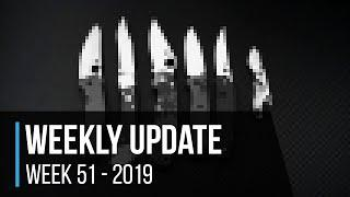 Weekly Update 51 - 2019: Top 10 Knives of the Year
