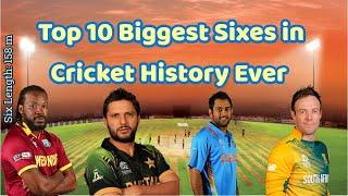 Top 10 Largest Sixes In Cricket History Ever| Biggest Sixes Ever| Top 10 info