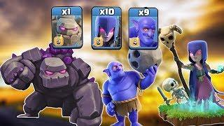 1 Max Golem + 10 Max Witch + 9 Max Bowler = TH12 Best War Attack Strategy 2019 | Clash of Clans