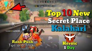 Top 10 New Secret Hidden Place In Kalahari || Rank Push Tips And Tricks In Free Fire || Abhi Play