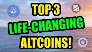 Top 3 Altcoins set to be LIFE-CHANGING in 2021!! Best Cryptocurrency Investments with Adoption!