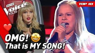TOP 10 | BEST TAYLOR SWIFT covers in The Voice Kids (part 2)!