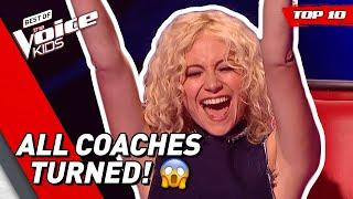 TOP 10: KIDS that made all COACHES TURN in The Voice Kids!
