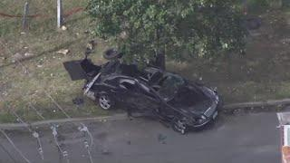 10-year-old killed and 5-year-old injured after police chase ends in crash