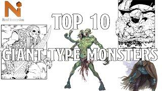 Top 10 D&D 5e Giant Type Monsters! | Nerd Immersion