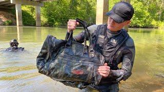 Found Duffel Bag Underwater, You Won't Believe What's Inside! (Scuba Diving)