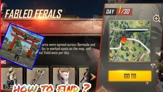 HOW TO FIND 1ST JUNE TREASURE BOX IN FREE FIRE ||  HOW TO FIND FADED BOX DAY  1ST JUNE  FABLED BOX I