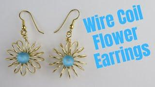 Wire Coil Flower Earrings Tutorial // Day 7 of the 10 Day Wire Earring Making Challenge