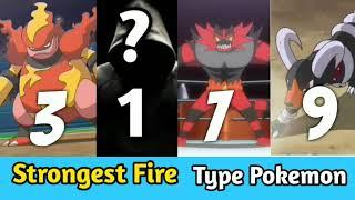 Top 10 Strongest Fire Type Pokemon in All Time || Strongest Fire Type Pokémon