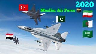 Top 5, Muslim Air Forces, 2020, | Muslims Country, | Turkey air force, | Pakistan air force,