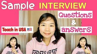 TOP 10 INTERVIEW Questions for Teachers  TEACH in USA