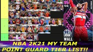 RANKING THE BEST POINT GUARDS IN NBA 2K21 MY TEAM! (NBA 2K21 MY TEAM TIER LIST)