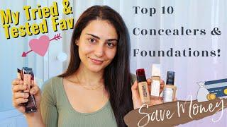 MY TOP 10 DRUGSTORE FOUNDATIONS & CONCEALERS AVAILABLE IN INDIA | TRIED & TESTED | SIMMY GORAYA