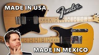 Fender Player and American Professional - My Experience Owning American and Mexican Telecasters