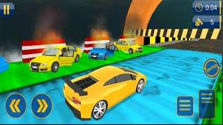 Impossible Car Stunts - Android GamePlay - Car Stunt Games Android