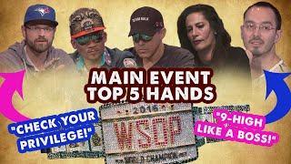 WSOP Main Event 2016 Top 5 Hands | World Series of Poker