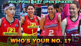 BEST OF THE BEST OPEN SPIKERS in the Philippines Women's Volleyball | Do you agree?