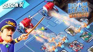 Boom Beach WARSHIPS Season 5 RESET!! NEW TROOP GAMEPLAY!