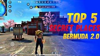 TOP 5 SECRET PLACE IN BERMUDA 2.0 || BERMUDA REMASTERED || GARENA FREE FIRE