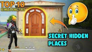 Top 10 Secret Hidden Places in Bermuda Remastered | Secret places in free fire | Bermuda 2.0