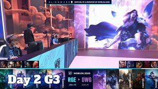 RGE vs DWG | Day 2 Group B S10 LoL Worlds 2020 | Rogue vs DAMWON Gaming - Groups full game