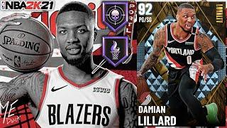 DIAMOND DAMIAN LILLARD GAMEPLAY! THE TOP AUCTIONABLE OFFENSIVE POINT GUARD IN NBA 2K21 MyTEAM!