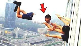 Top 10 LUCKIEST PEOPLE Caught On VIDEO! (Close Calls Caught On Camera)