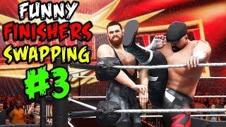 WWE 2K20 Top 10 Funny Finishers Swapping Part 3!