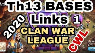 TOP 10 TH13 CWL BASES WITH LINKS! CHOOSE ANTI 2, ANTI 3, OR BOTH! | Town Hall 13 War Base + Link!