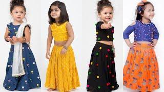 Latest Crop-Top Lehenga Designs for #kids 1-10 year old girls/New Crop-Top Festival and Partywear