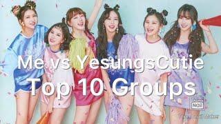 Me Vs My Friend - Top 10 Kpop Girl Groups & Boy Groups