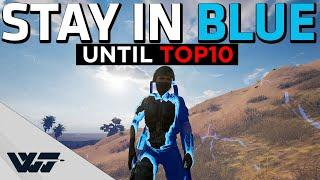 STAY IN THE BLUE UNTIL TOP10 - This shouldn't work! - PUBG