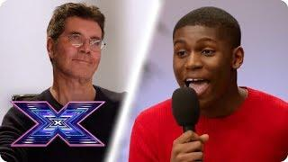 Boaz Brings Stevie Wonder SOUL To The Room Auditions   X Factor Global