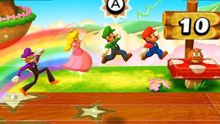 Mario Party The Top 100 - Luigi vs Mario vs Peach vs Waluigi(Very Hard Difficulty)| Cartoons Mee