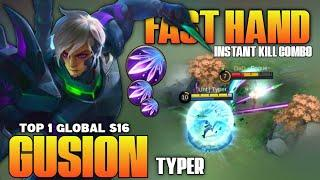 Top 1 Global Gusion S16, Brutal Dagger Damage! Fast Hand | Gusion Gameplay | Mobile Legends✓