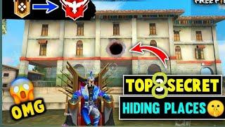 Top 10 hiding place in bermuda //FREE FIRE