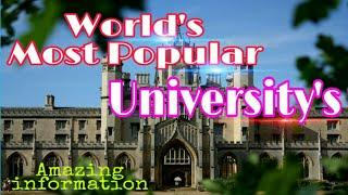 ||World Popular Top 10 Universities Information||Amazing Information|| in हिन्दी।Updated,,, By R.S.
