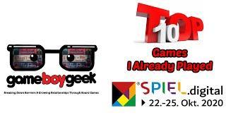 Top 10 Games at Essen Spiel Digital 2020 That I Already Played