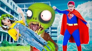 Superman Nick VS Zombie Rescue Tani | Scary Teacher 3D In Real Life