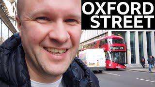 TOUR OF EMPTY OXFORD STREET London 390 bus route top deck Boris Bus